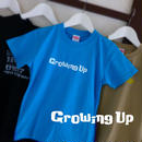 T SHiRT for KiDS 130cm - Growing Up - #TURQUOiSEBLUE x WHiTE