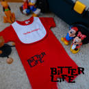 ROMPERS 5.6oz and BiB - BiTTER LiFE - #RED x BLACK