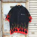 USA製 YAMAHA ファイヤーパターンシャツ
