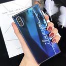 【即納】スクエア ブルーミラー  iPhoneケース