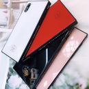 【即納】iPhoneケース スクエア ラインストーン 6 6s 6plus 6splus 7 7plus 8 8plus X XS ロゴ インスタ話題 大人気 モデル 鏡面仕上げ ミラーケース 四角