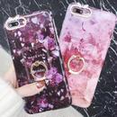 【即納】大理石風 リング付き  iPhoneケース