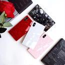 【即納】iPhoneケース スクエア シェル 大理石風 四角 鏡面仕上げ 鏡面スクエア ミラーケース 6 6s 7 アイフォン7プラス アイフォン8 アイフォン8プラス アイフォンX アイフォンXS