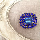 bijou brooch ④  blue square