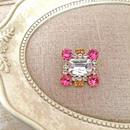 bijou brooch ①  clear x pink