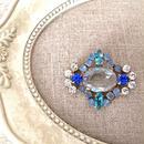 bijou brooch ④  clear x blue
