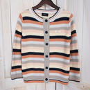 Lilisia Border Cardigan peach x navy