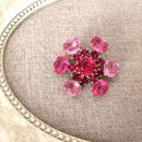 bijou brooch ④  pink