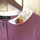 【1点物】flower collar Cardigan  lace collar
