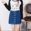 【お取り寄せ商品】 Vintage A-line Pencil Jeans Skirt LS03