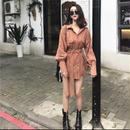 【お取り寄せ商品】Vintage Slim Women Casual Dress Coat LJ04