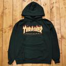 THRASHER Flame Logo Hood - Forest Green
