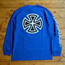 Independent truck Co. Bar/Cross L/S T-Shirt - Blue