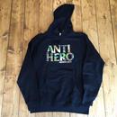 Anti Hero Skateboards Camo Hero Midwright Pullover - Black