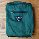 COMA Forest green canvas backpack