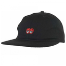 Krooked Eyes Embroidered 6-Panel Strapback Hat - Black