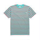 POLAR SKATE CO. STRIPED POCKET TEE Mint / Coral red