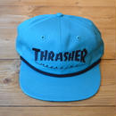 THRASHER ROPE SNAPBACK TEAL/BLACK