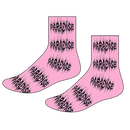 PARADISE.NYC METAL LOGO CREW SOCKS Pink
