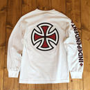 Independent truck Co. Bar/Cross L/S T-Shirt - White