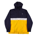 HELAS SPORT HOODED TRACKSUIT JACKET - NAVY/WHITE/YELLOW