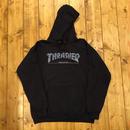 THRASHER x GX1000 HOODIE - BLACK