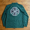 INDEPENDENT BAR/CROSS COACH WINDBREAKER FOREST GREEN