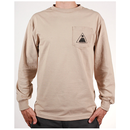 Theories THEORAMID Long Sleeve Tee - Sand w/ Black Ink
