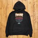 THRASHER Menorah Hood - Black