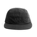 POP UNI 5 PANEL HAT BLACK