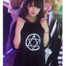 六芒星フードBIGTシャツ/HOMELESS PARTY.