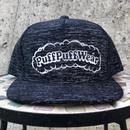 【霜降り透けプリント】Puff Puff SNAPBACK CAP(BLACK/WHITE)
