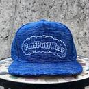 【霜降り透けプリント】Puff Puff SNAPBACK CAP(BLUE/WHITE)