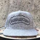 【霜降り透けプリント】Puff Puff SNAPBACK CAP(GRAY/BLACK)