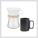 SNOWTOP COFFEE series スノウトップ コーヒーポット&ドリッパーセット 400ml & HASAMI PORCELAIN マグカップ Lサイズ ブラック