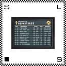 アートワークスタジオ アートフレーム A3サイズ タイムテーブル ブラックフレーム W340/D30/H465mm ポスター付フレーム アートポスター TR-4197-TT