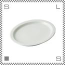 aiyu アイユー プレート ホワイト W18.4/D15/H1.5cm オーバルプレート リムあり 波佐見焼 日本製