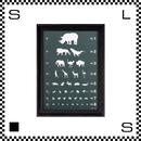 アートワークスタジオ アートフレーム A3サイズ アイチャート ブラックフレーム W340/D30/H465mm ポスター付フレーム アートポスター TR-4197-EC