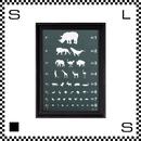 アートワークスタジオ アートフレーム A2サイズ アイチャート ブラックフレーム W480/D45/H657mm ポスター付フレーム アートポスター TR-4198-EC