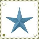 スターサイン ブルー W45D6.5/H43.5cm 星 スチール製 azu-art77bl
