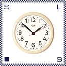 HERMOSA ハモサ HK HORO CLOCK 琺瑯クロック アイボリー 直径34cm ウォールクロック ホーロー製 琺瑯製