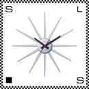 アートワークスタジオ Atras2 アトラス ホワイト  直径465mm ウォールクロック 掛け時計 ネルソン風 放射線状 ブナ無垢材使用 TK-2074-WH