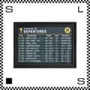 アートワークスタジオ アートフレーム A1サイズ タイムテーブル ブラックフレーム W680/D48/H930mm ポスター付フレーム アートポスター TR-4199-TT