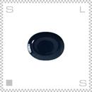 Common コモン オーバルプレート 150mm ネイビー W150/D120/H18mm 波佐見焼 日本製