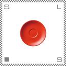 ORIGAMI オリガミ エスプレッソカップ用ソーサー レッド Φ128mm デミタスカップ用ソーサー 日本製