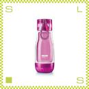 ZOKU ゾク コアボトル 355ml パープル ダブルウォール ストラップ付 内側:耐熱ガラス 水筒 携帯ボトル