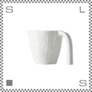 aiyu アイユー マグカップ bird バード ホワイト W12/D9/H8cm 220cc ユニバーサルデザイン ロングハンドル 波佐見焼 日本製