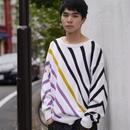 multi collar border knit