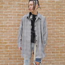 Oversized zigzag shirt jacket