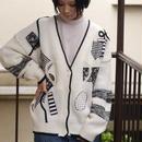 80's design knit cardigan